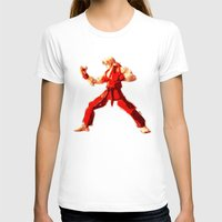street fighter T-shirts featuring Street Fighter II - Ken by Carlo Spaziani