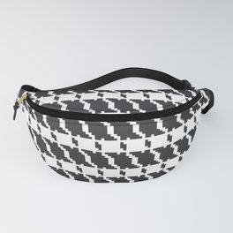 Black and white geometric abstract background, cloth pattern, goose foot. Pied de poule. Ve Fanny Pack
