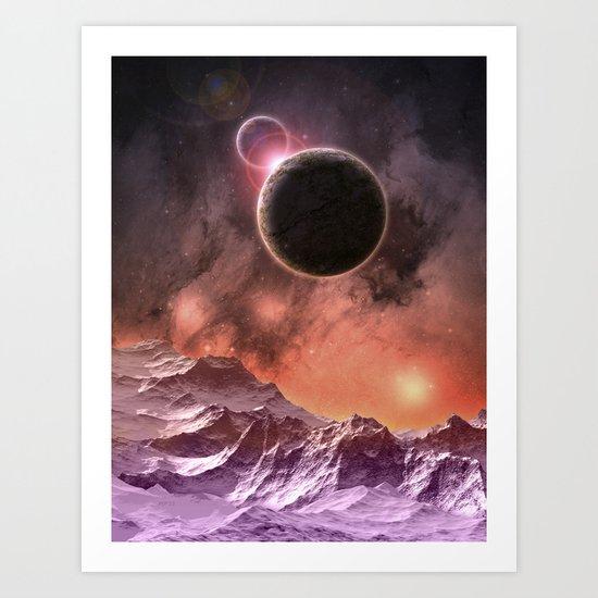 Cosmic Range Art Print
