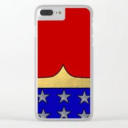 Wonder Hero Clear iPhone Case