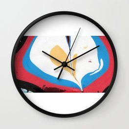 Have a Heart Marble Painting Wall Clock