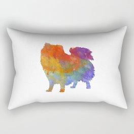 Italian Volpino in watercolor Rectangular Pillow
