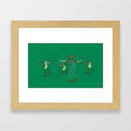 Yoshi Training Framed Art Print