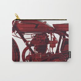 Red motorcycle lines Carry-All Pouch