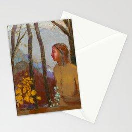 """Odilon Redon """"Évocation (Femme à la montagne)"""" Stationery Cards"""