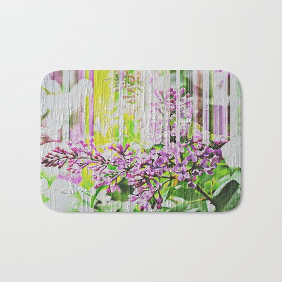 White Washed Painted Lilac Bath Mat
