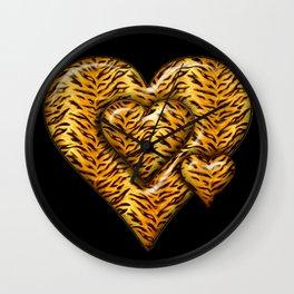 Cheetah Heart HD by JC LOGAN 4 Simply Blessed Wall Clock
