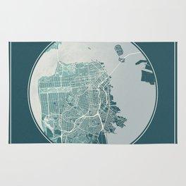 San Francisco Map Planet Rug
