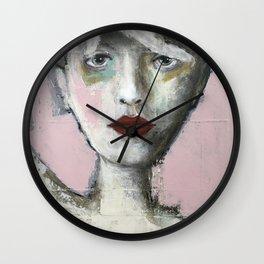 FAIS ATTENTION À TA TÊTE ROSE Wall Clock