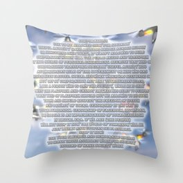 Corporations Throw Pillow