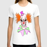 pennywise T-shirts featuring Demented Clown Skull by J&C Creations