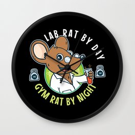 Funny Medical Laboratory  Gift For Lab Tech Wall Clock