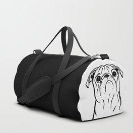 Pug (Black and White) Duffle Bag