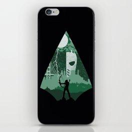 Arrow green iPhone Skin