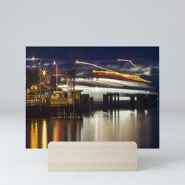 Ferry Arrives Mini Art Print