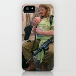 A Soldier & His Baby iPhone Case