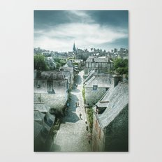 Dinan's Rooftops Canvas Print
