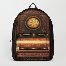 Steampunk Generator Bronze Backpack