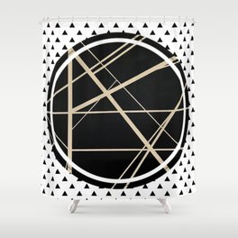 Crossroads - small triangle Shower Curtain