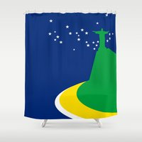 brazil Shower Curtains featuring BRAZIL by Marcus Wild