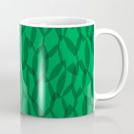 Overlapping Leaves - Dark Green Coffee Mug
