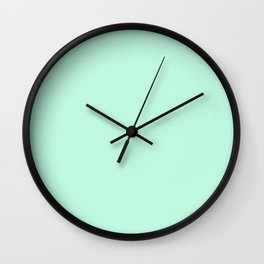 Seafoam Green Solid Color Wall Clock
