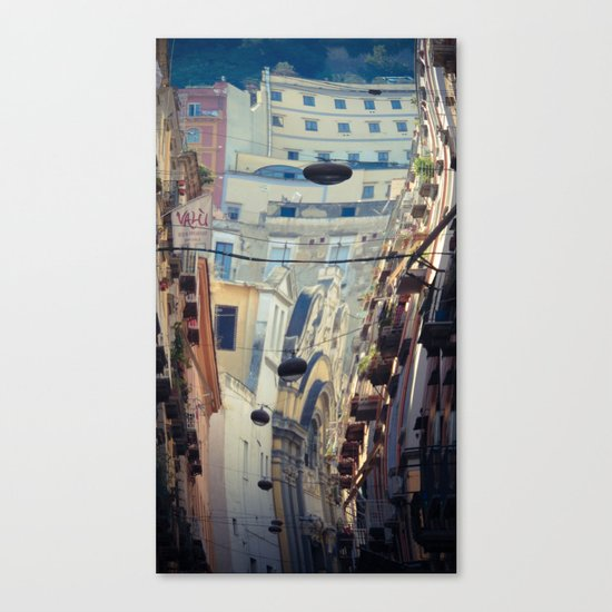 Napoli street Canvas Print