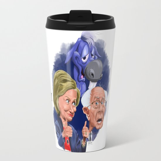 Bernie and Hillary 2016 Travel Mug