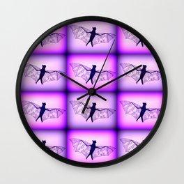 bats in purple Wall Clock