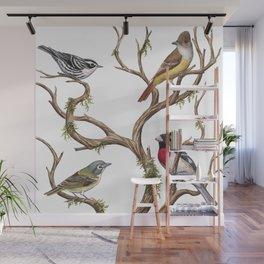 Four Songbirds Wall Mural