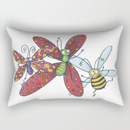 Insects and party Rectangular Pillow