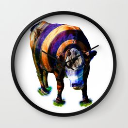 Cosmic Cow II Wall Clock