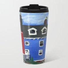 Newfoundland Houses Canada acrylics on canvas Metal Travel Mug