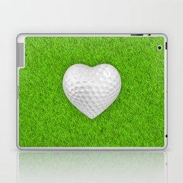 Golf ball heart / 3D render of heart shaped golf ball Laptop & iPad Skin