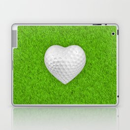 Golf ball heart / 3D render of heart shaped golf ball Laptop & iPad Skin