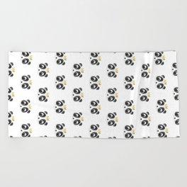 Panda King [Pattern] Beach Towel
