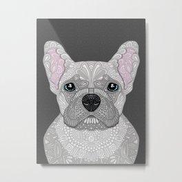Cream French Bulldog Metal Print