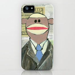 Sock Monkey 129: The Bean Counter iPhone Case