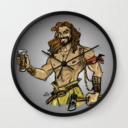 Jason Momoa comic style Wall Clock