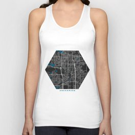Anchorage city map black colour Unisex Tank Top