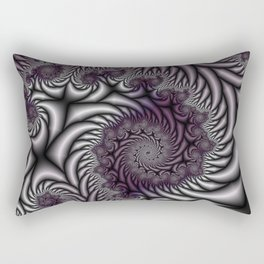 Purple and Gray Rectangular Pillow