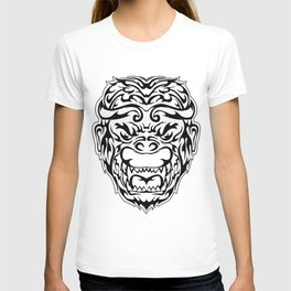 Tribal Monkey Head T-shirt