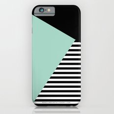 Mint Color Block with Stripes // www.penncilmeinstationery.com Slim Case iPhone 6