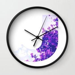 """""""J"""" Initial Tree Wall Clock"""