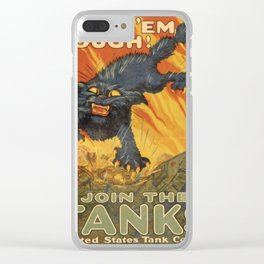 Vintage poster - Join the Tanks Clear iPhone Case