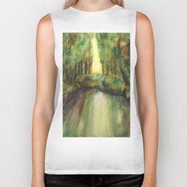 Trees and creek - Original painting Biker Tank