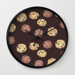cookies pattern_brown Wall Clock