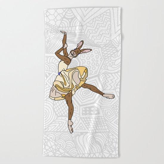 Bunny Rabbit Ballerina Tutu Beach Towel