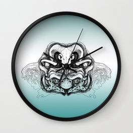 Skull Composition Wall Clock