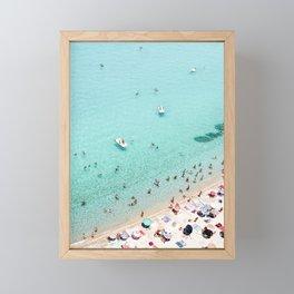 Beach Day Framed Mini Art Print